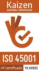 Logo Kaizen 45001. Certificado 19.0055S (130x236px)