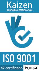 Logo Kaizen 9001. Certificado 19.0054C (130x236px)